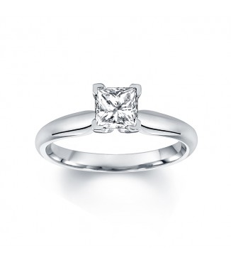 1 carat Princess Cut Solitaire