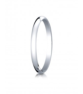 2mm 14K White Gold Benchmark Plain Band