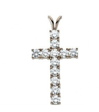 1.19 ctw Diamond Cross