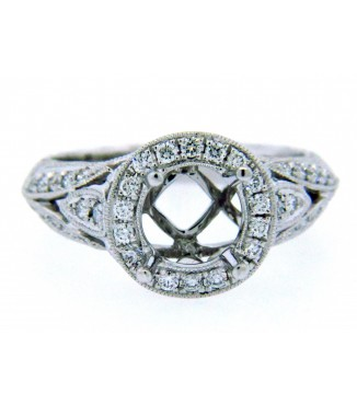 18K White Gold Vintage Setting