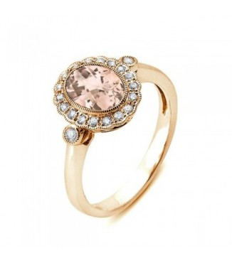 Rose Gold Morganite Ring