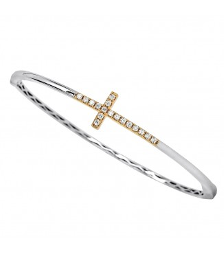 .30ctw Diamond Cross Bangle