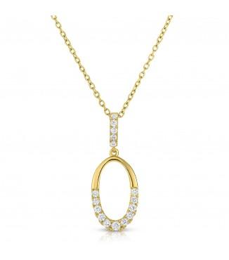 .34 ctw Oval Diamond Pendant