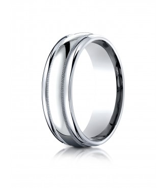 7.5mm Double Milgrain Band