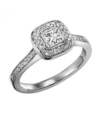 1/3 ct Princess cut Diamond Engagement Ring