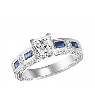 Sapphire & Diamond Engagement Setting
