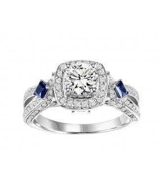 Sapphire & Diamond Engagement Setting 3/4 CTW