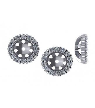 3/8 CTW Diamond Earring Jackets
