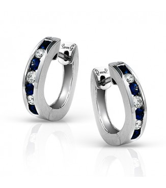 Simon G Channel Set Sapphire & Diamond Loops