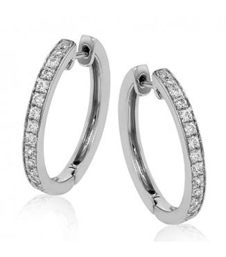 Simon G ER353 Diamond Loop Earrings