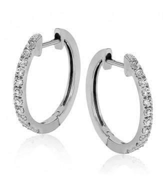 Simon G Diamond Hoop Earrings
