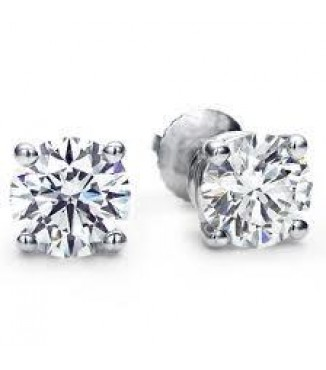 1 CTW GOOD QUALITY DIAMOND STUD EARRINGS