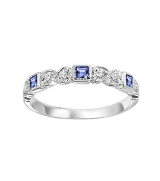 Sapphire & Diamond Stackable Ring FR1029