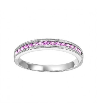 Pink Sapphire Stackable Ring FR1031