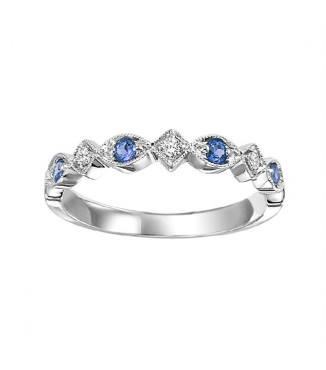 Sapphire and Diamond Stackable Ring FR1041