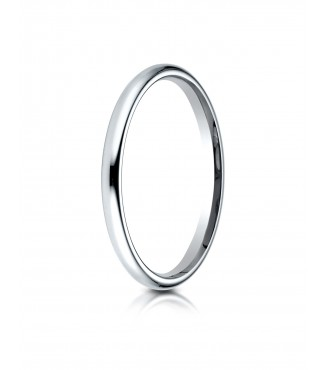 2mm 14K White Gold Benchmark Comfort Fit Band