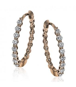 Simon G 18K Rose Gold Diamond earrings