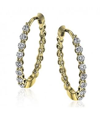 Simon G LE4546-Y Diamond Earrings