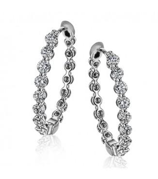 Simon G LE4547-W Diamond Earrings