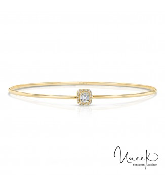 Uneek Linden Yellow Gold Diamond Bangle