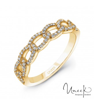 Uneek La Mirada 14KY Stackable Diamond Band