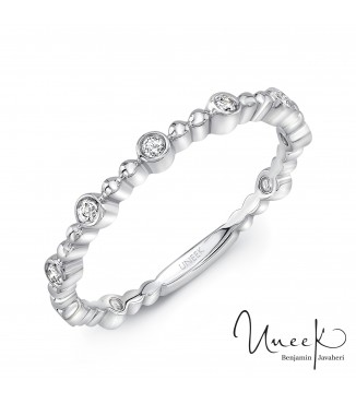 Uneek Wilcox 14K White Diamond Band