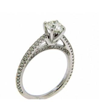 18KW Diamond Engagement Ring