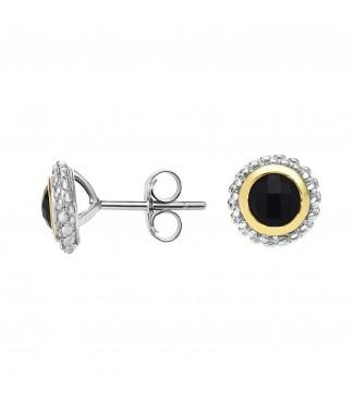 Sterling Black Onyx Earrings