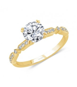 Uneek 14K Yellow Engagement Setting