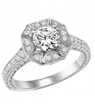 1 ctw Diamond Engagement Ring