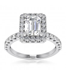 1.05TW Emerald Cut Engagement Ring