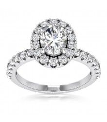 7/8 carat Oval Engagement Ring