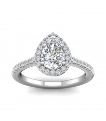 3/4 carat Pear Cut Engagement Ring
