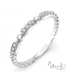 Uneek Rodeo 14K White Diamond Band