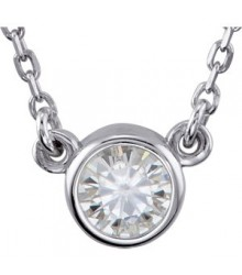 1/4 Carat 14K White Diamond Pendant