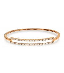 1ctw 18KY Diamond Bangle