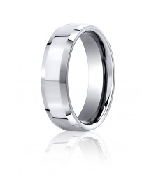 Cobalt chrome 7mm BENCHMARK Satin Comfort Fit Wedding Band