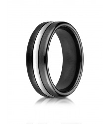 Black Cobalt Wedding Band