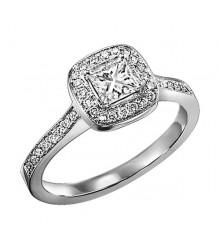 1/3 ct Princess cut Diamond Engagement Ring