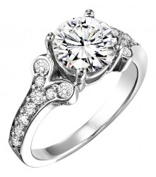 1 1/3 ctw Diamond Engagement Ring