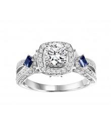3/4 Carat TW Sapphire & Diamond Engagement Setting
