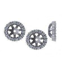 1/3 CTW Diamond Earring Jackets