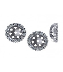 3/8 CTW Diamond Earring Jackets