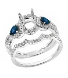 Diamond & Sapphire Engagement Setting