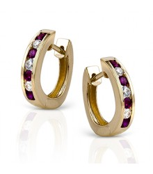 Simon G Channel Set Ruby & DIamond Loops