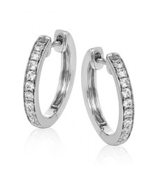 Simon G 18KW 1/3 ctw Diamond Hoops
