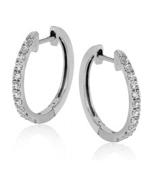 Simon G Diamond Hoop Earrings