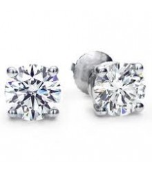 1 CTW Diamond Stud Earrings - Best