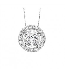 14K White Gold TruReflections Diamond Pendant