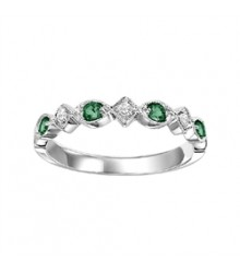 Emerald & Diamond Stackable Band FR1028